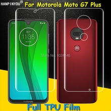 Front / Back Full Coverage Clear Soft TPU Film Screen Protector For Motorola Moto G7 Plus G7Plus Cov