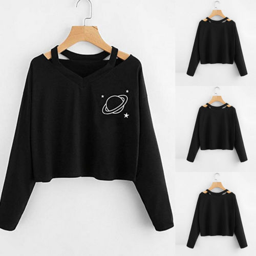 Autumn Casual Womens Hooded Hoodie Sweatshirt Jumper soft Crop Top Coat Pullover Tops new