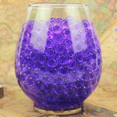 Über 100 Teile/los Purpel Wasser Baby Perlen Kristall Boden Wasser Perlen Schlamm Wachsen Ball Wasser Magic Balls Home Decor Hochzeit hydrogel