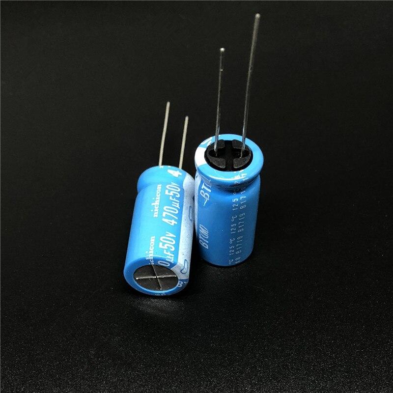 5 шт./20 шт. 470 мкФ 50 в NICHICON BT серия 12,5x25 мм Высокая надежность 50V470uF алюминиевый электролитический конденсатор