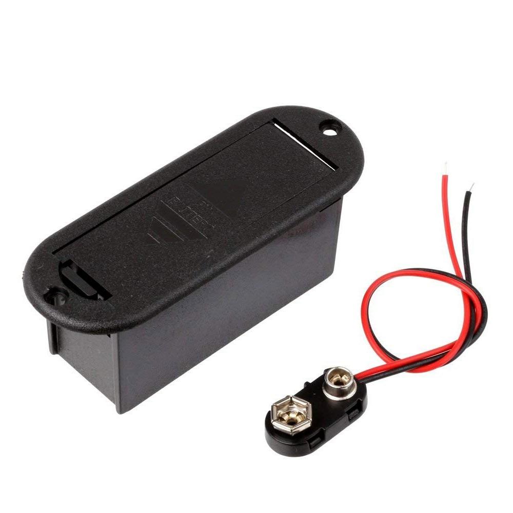 FULL-9V funda porta baterías para pastilla de bajo de guitarra activa