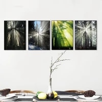 scandinavian canvas painting sun forest abstract poster hope wall pictures living room landscape art decoration wall poster