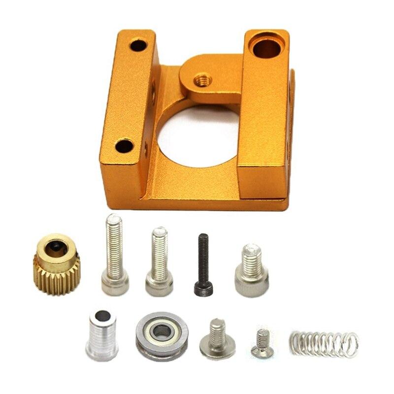 Impresora 3D Mk8 extrusora marco de aluminio bloque Diy Kit (mano derecha) para Makerbot Reprap Prusa I3
