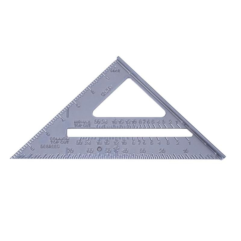 Pulgada métrica 90 grados 45 grados cuadrado triángulo regla herramientas de medición