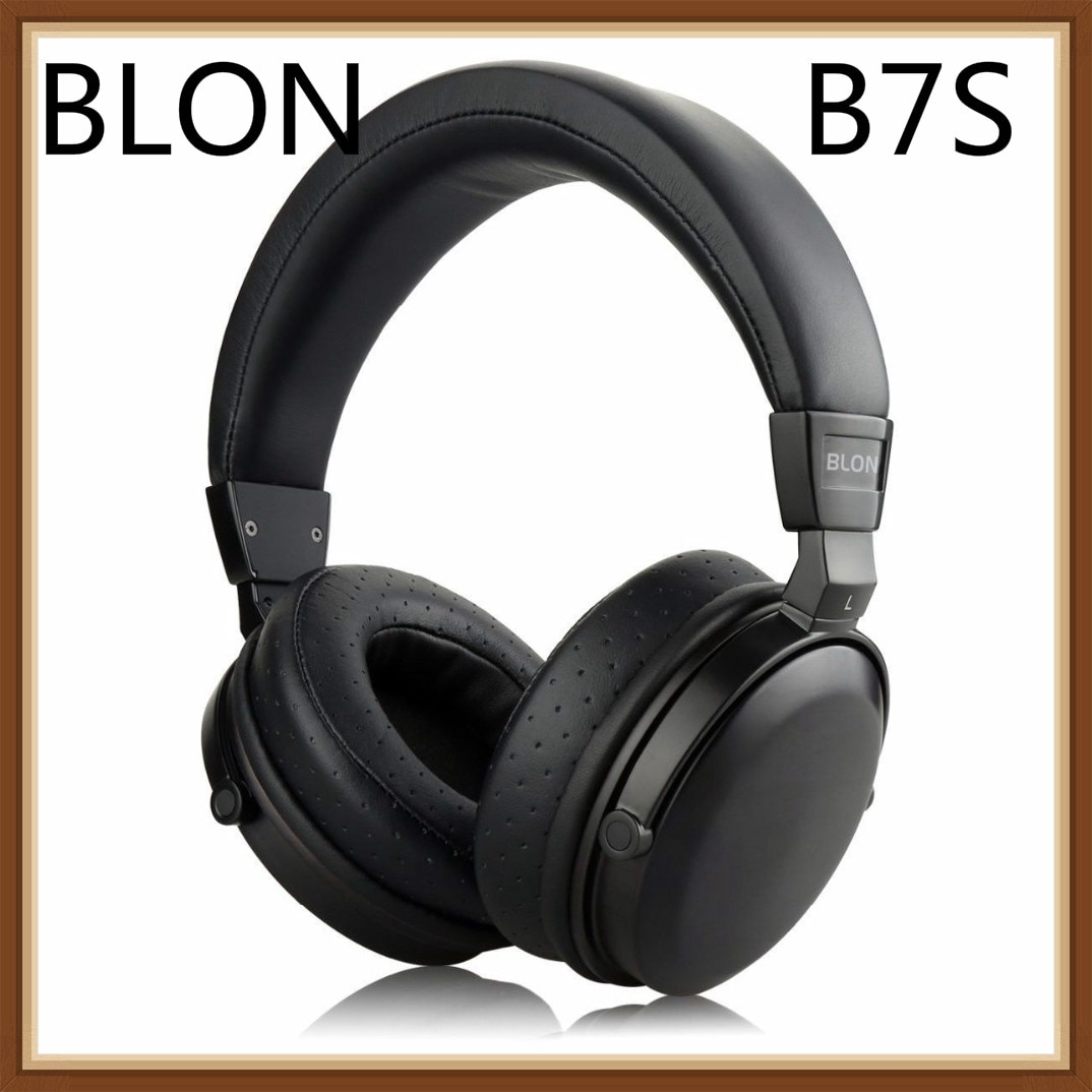 Blon b7s bosshifi fones de ouvido música alta fidelidade de madeira 50mm alto-falante dinâmico cancelamento ruído ativo monitor estúdio dj estéreo fone ouvido