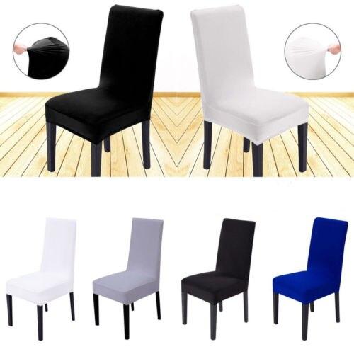 Protetor de cadeira de estiramento anti-sujo cobre elástico protetor de cadeira slipcover sala de jantar fundas de sillas elástico