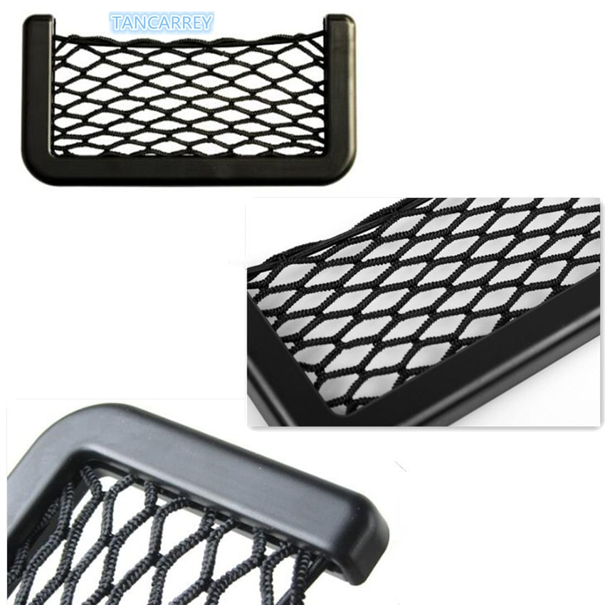 2021 Car Pocket Mesh Phone Net Pocket Holder For bmw e60 renault bmw f10 bmw f30 opel astra h golf 7 golf 4 passat b5 toyota