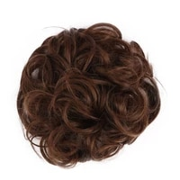 synthetic curly chignon bun clip in hair extensions blonde brown black chignon bun hairpiece wigs for women heat resistant