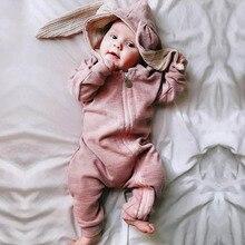 Baby crawl suit children's jumpsuit rabbit crawl suit cotton hot sale