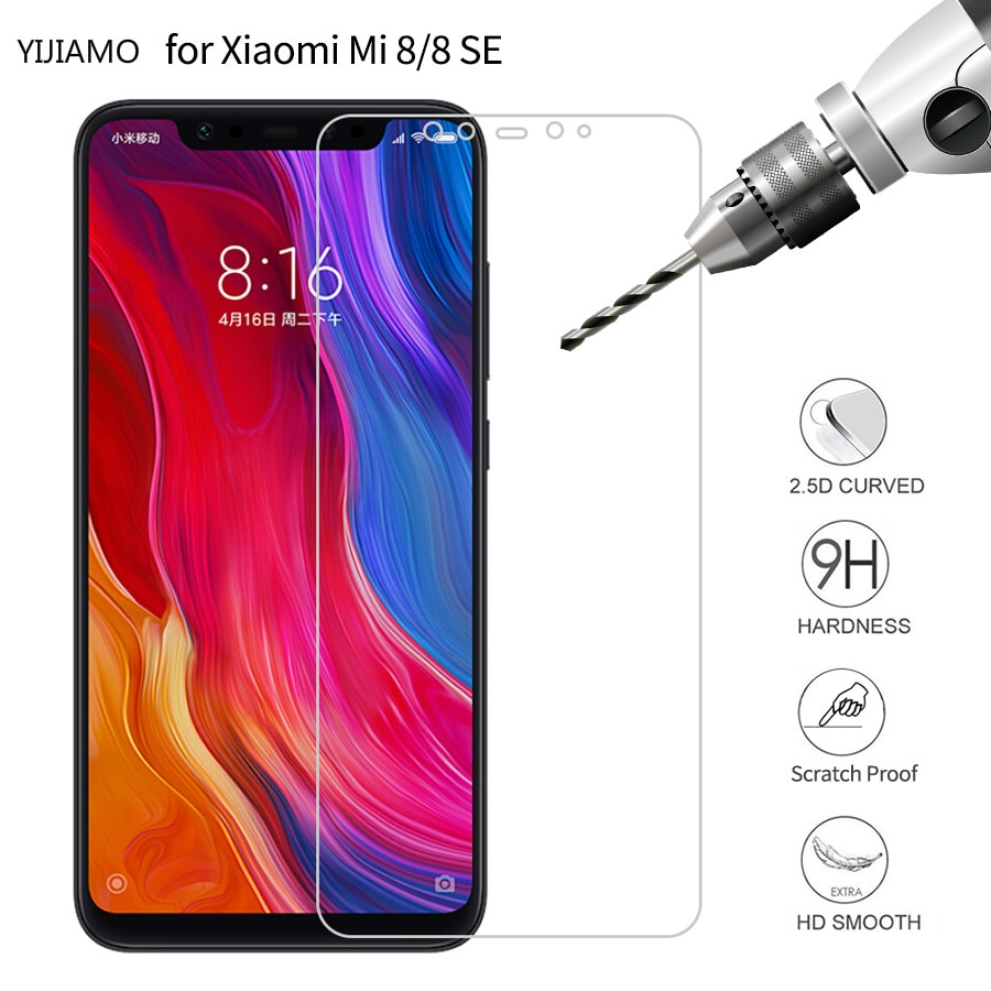 2Pcs 9H Tempered Glass for Xiaomi Mi 8 SE Screen Protector 2.5D Glass For Xiomi Mi8 Glass Cell Phone