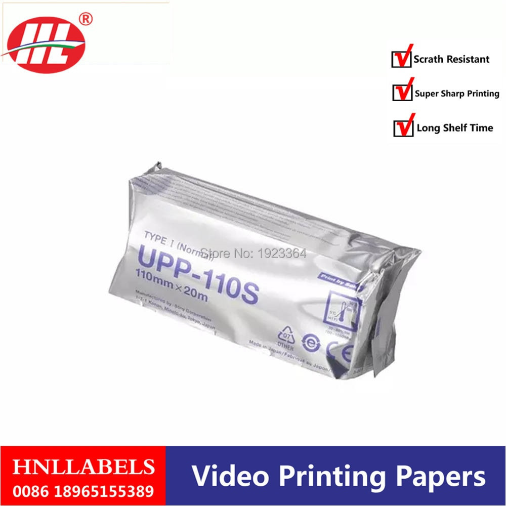 10X rollos de ultrasonido UPP 110S 110mm * 20m b-grabador UPP-110S termal b-hojas A6