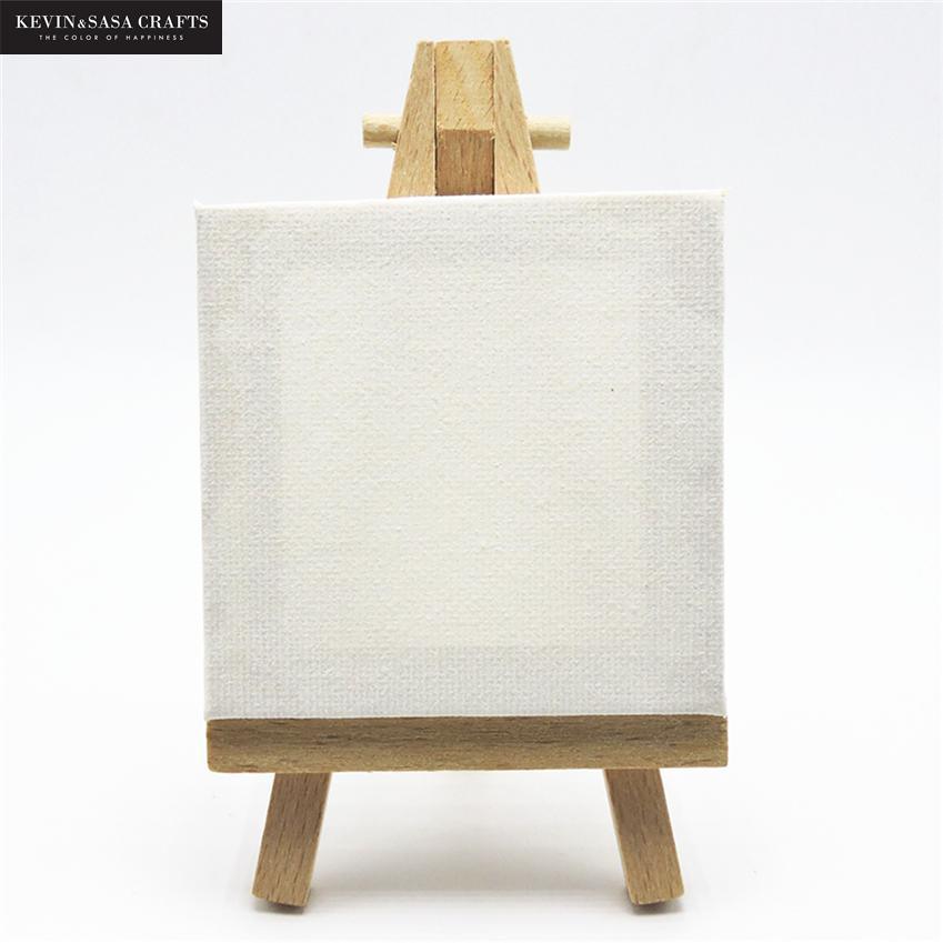 1 Juego de Mini pintura acrílica de Lienzo en blanco para pintar con caballete de calidad suministros de arte para pintar Papelería para artistas regalos para niños