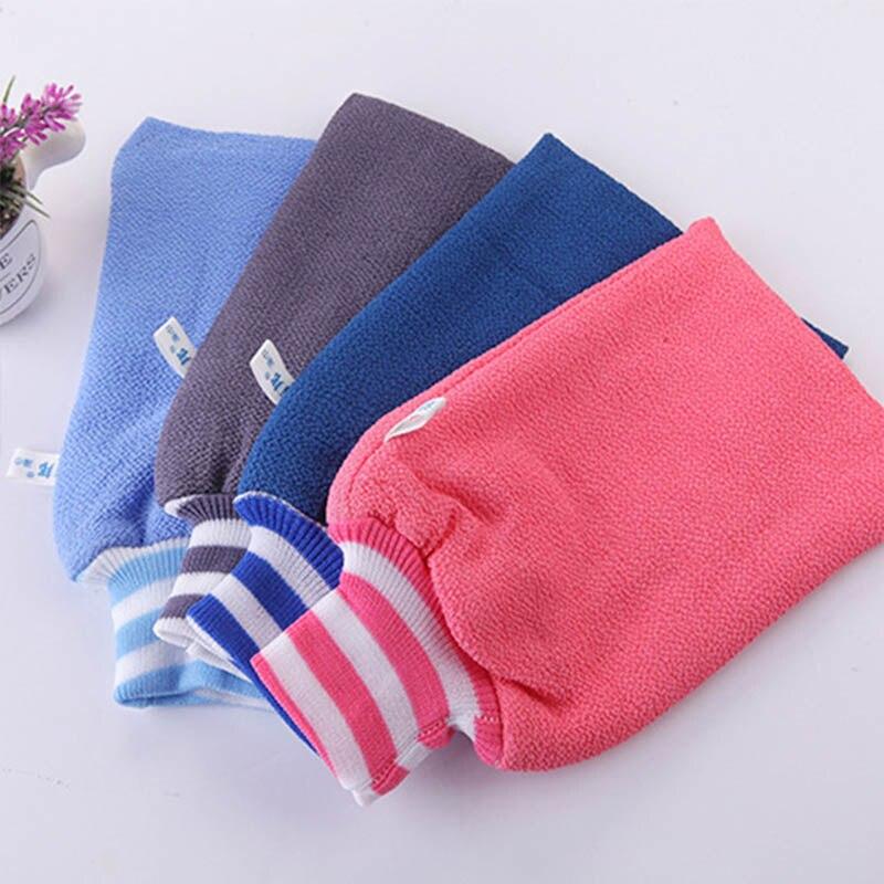 1PC Shower Bath Gloves Portable Dead Skin Removal Magic Peeling Glove Random Color Bathroom Products Shower Scrub Mitt