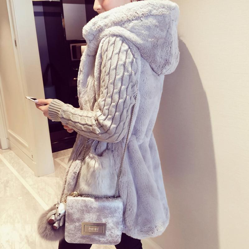 Осенне-зимнее теплое пальто с большим меховым воротником и капюшоном, модная женская парка с капюшоном