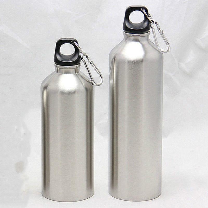 500 мл/750 мл из нержавеющей стали спортивные бутылки для воды + Герметичная крышка для спортзала столовая стакан бутылка для воды с крышкой 25 унций