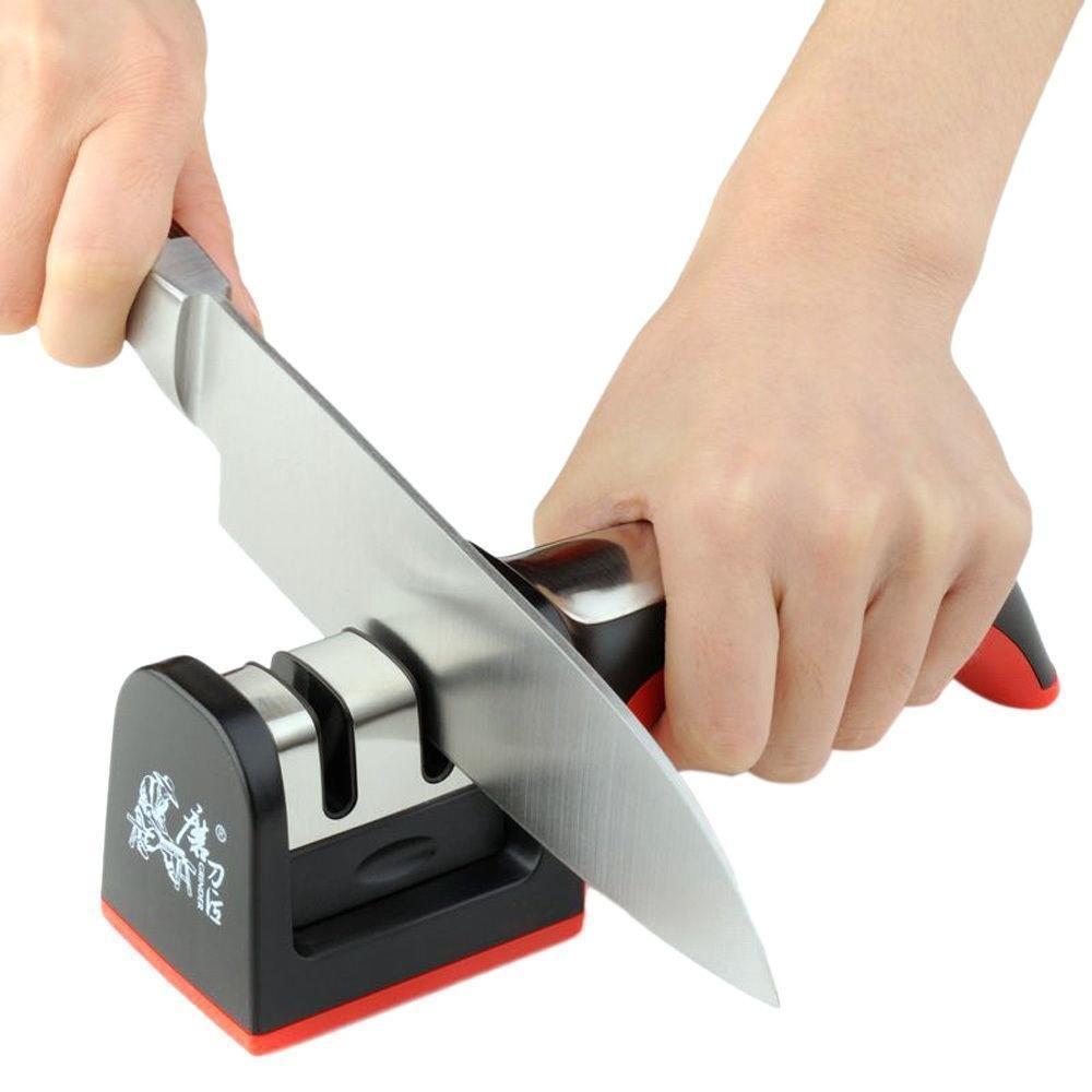 שני שלבים יהלומי קרמיקה מטבח סכין מחדדי חידוד אבן ביתי מחדד סכיני מטבח אביזרי כלים