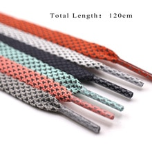 120cm Flat Double Layer Reflective Shoelaces 3MM Wide Runner Weave Tape Glowing Shoe Laces Women Men