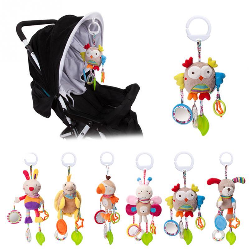 Cartoon Baby Toys 0-12 Months Bed Stroller Baby Mobile Hanging Rattles Newborn Plush Infant Toys For Baby Boys Girls погремушки