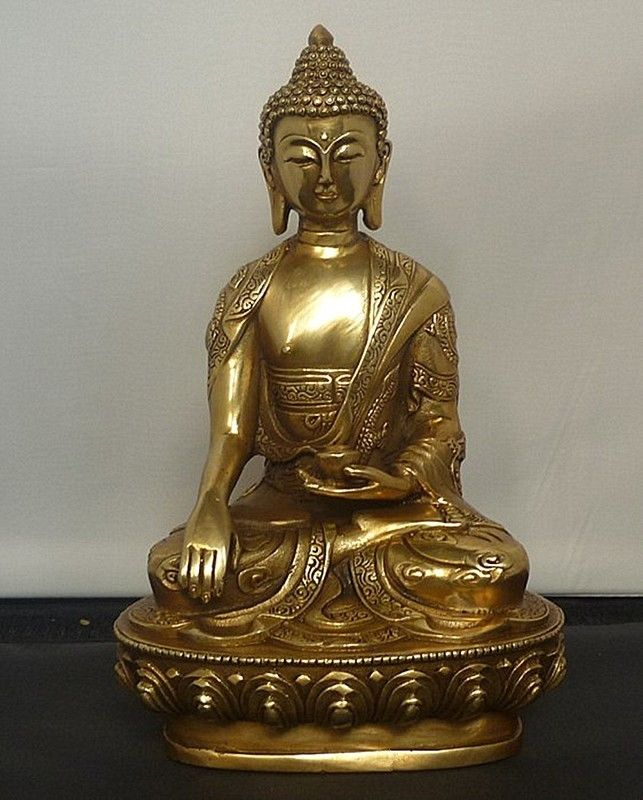 Тибетская Бронзовая статуя Будды шакямуни