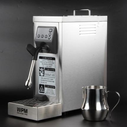 200-240vfull التلقائي المهنية الحليب باخرة مع إعداد درجة الحرارة/الفولاذ المقاوم للصدأ الحليب آلة frother WPM WELHOME برو