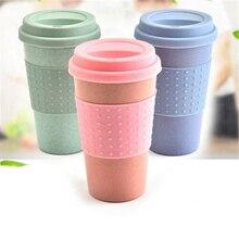 Tasse de paille de blé chaud   Verres créatifs en fiber de bambou réutilisables, tasses Ecoffee voyage Eco Friendly 2019 nouvelles tasses de thé à café 300ML