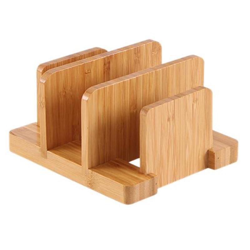 Tabla de cortar de bambú creativa duradera multifuncional estante para olla tapas soporte suministros de cocina Gadgets Para restaurante