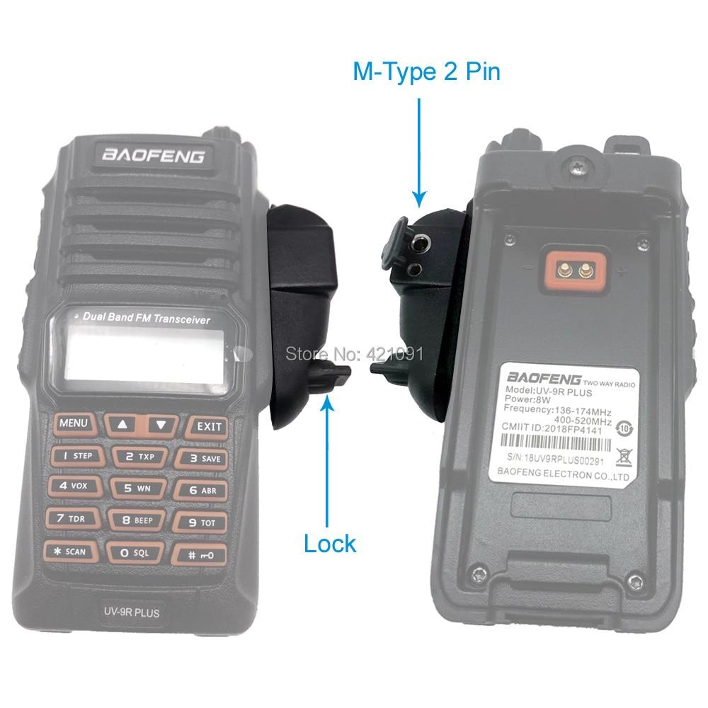 Radio Baofeng UV-9R Plus Talkie-Walkie Adapter to M-type 2 Pin Suitable for Motoluola GP88 Walkie Talkie Headset Mic Accessories enlarge