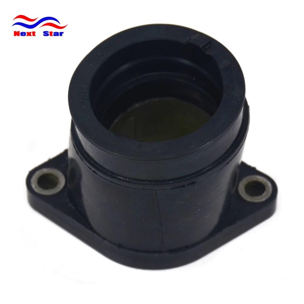 Interfaz del carburador del conector del tubo del pegamento negro de la motocicleta para YAMAHA TT-R250 TTR 250 1999-2006 TT250R TT-R RAID 1993-2004