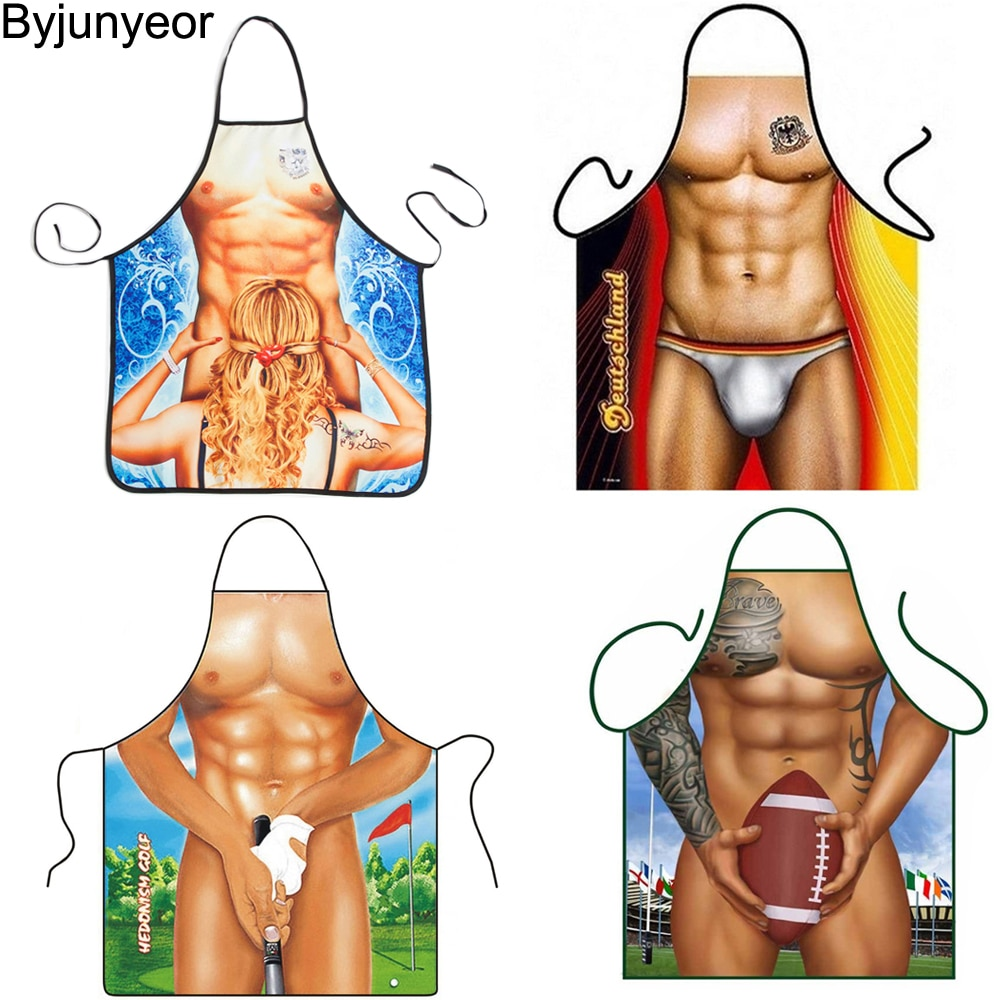 aliexpress.com - 3D Funny Aprons Muscle Man & Women Apron Dinner BBQ Party Cooking Apron Adult Baking Accessories Funny Gifts For Men CS271