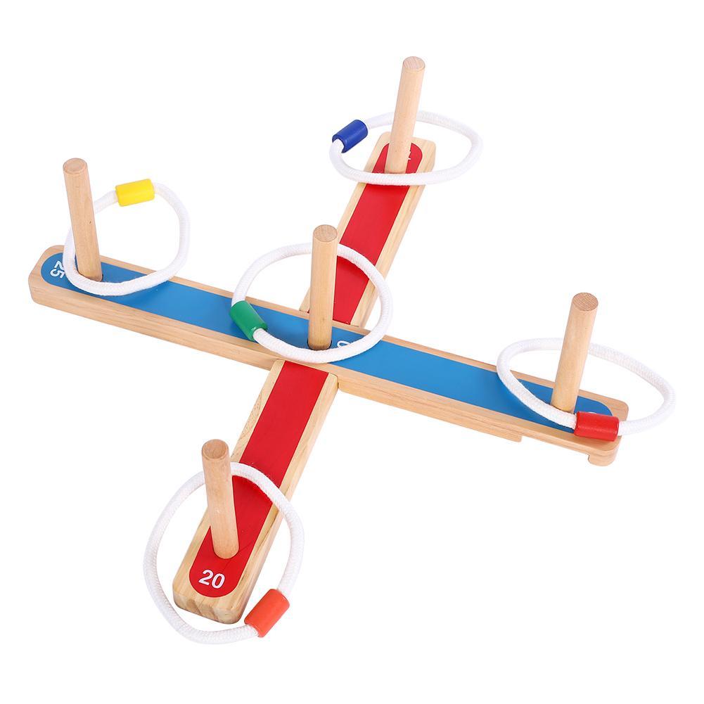 Dzieci Outdoor Group Team sportowe zabawki Ring Toss Hoopla zestaw gier zabawki rodzice dziecko okucie rzucanie gra Party gra dla dorosłych dzieci