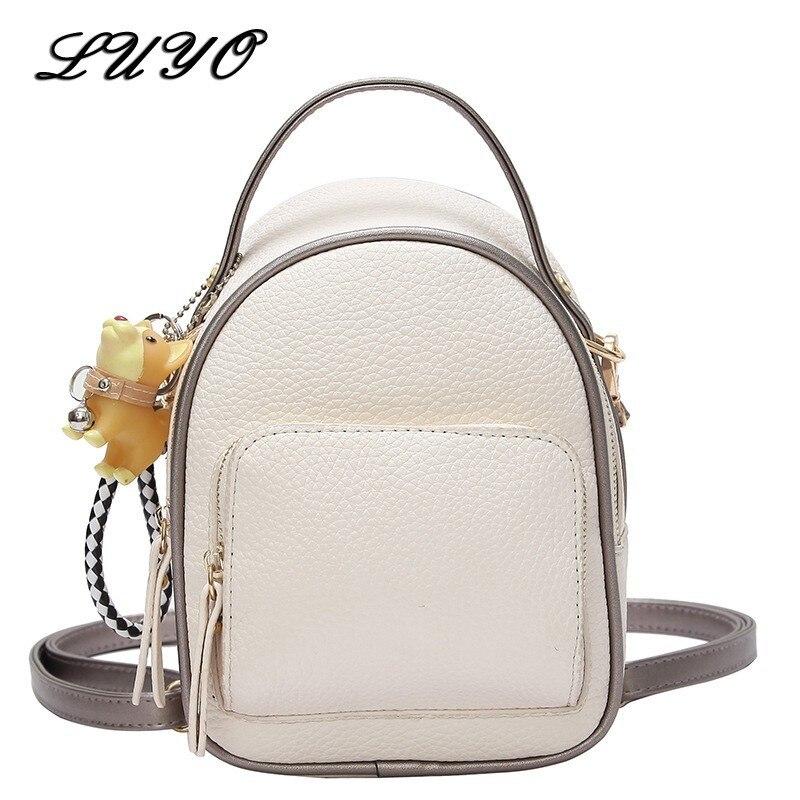 2018 Fashion Women Mini Bag High Quality PU Leather Women School Bags Simple Casual Small Girls Backpack Mochila Rugzak Bagpack