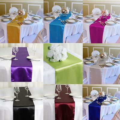 Corredor de mesa de satén Faroot de alta calidad similar a la seda, decoración para bodas, fiestas, banquetes
