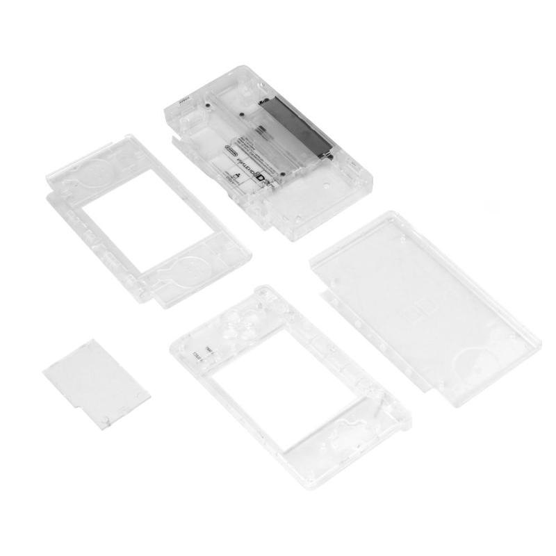 Alloyseed 1 Conjunto de carcasa de repuesto lente de pantalla para Nintend DS Lite cubierta de carcasa completa cristalina