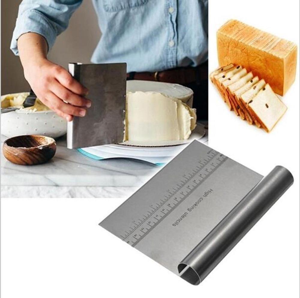 Espátula de acero inoxidable para repostería, espátula para pastel, crema de glaseado, pinceles para cuchillos, herramienta para hornear, utensilios de cocina, triangulación de envíos