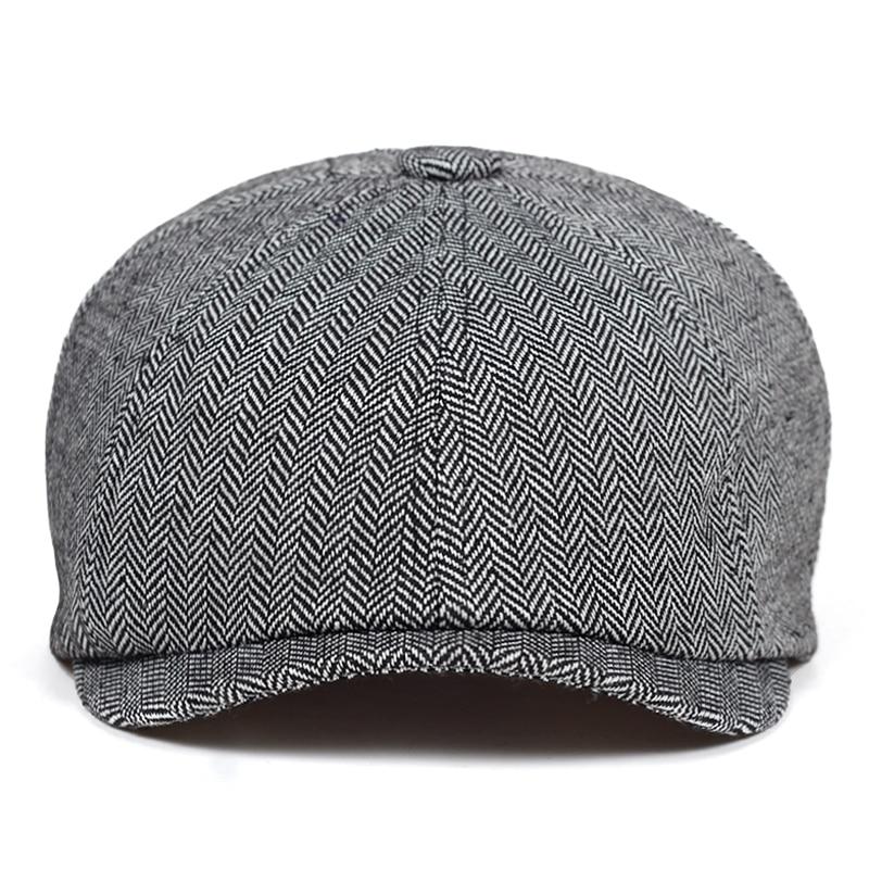 2019 nueva moda de Beckham hombre tapa octogonal est hombres de lana vendedor Caps boina de pintor sombrero sombreros ocasionales