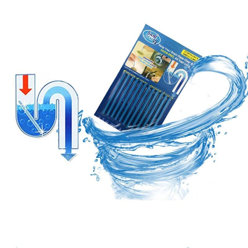 12 unids/set limpieza palos de alcantarilla de la barra de herramienta de limpieza de descontaminación de aguas residuales a desodorante cocina baño, bañera desagüe