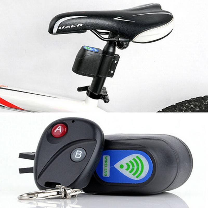 Candado de seguridad profesional antirrobo para bicicleta candado de seguridad para ciclismo Control remoto inalámbrico alarma de vibración 110dB alarma de bicicleta