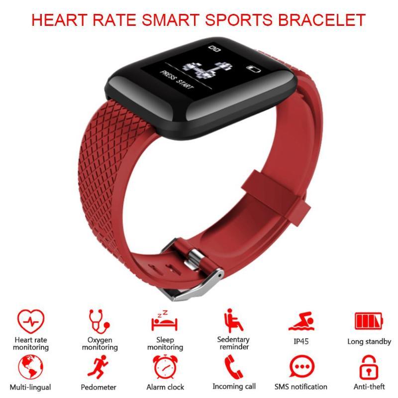 116 plus pulseira inteligente d13 freqüência cardíaca pressão arterial à prova dwaterproof água relógio inteligente