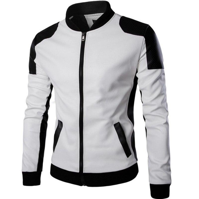 Men's PU Faux Leather Jacket Men Motorcycle Biker Autumn Winter  Male Jacket Coat Outwear Clothes jaqueta de couro masculina