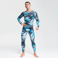 camouflage tracksuit men set running tights compression kit gym body shaper muscle shirt cycling tracksuit top sports