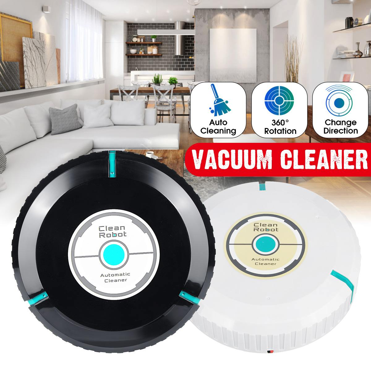 Robot aspirador inteligente aspirador inalámbrico Robot esquinas para suelo barredora para limpieza del hogar