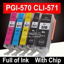 Cartouche dencre pour Canon PGI 570 CLI 571 PGI570 XL pour Pixma MG5750 MG5751 MG5752 MG6850 MG7750 MG6853 MG7753 TS5050 TS5051