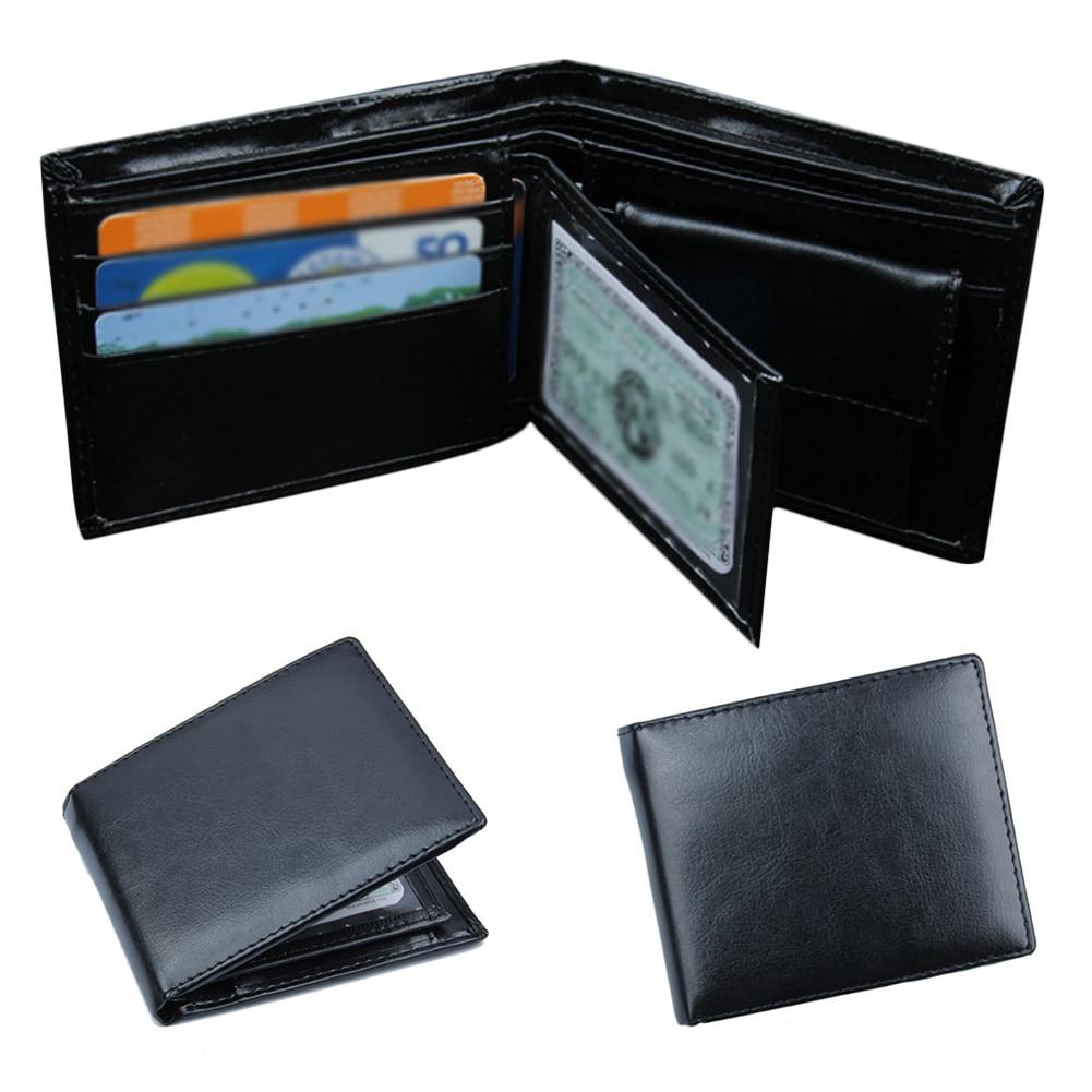 2018 New Soft Leather Mens Wallets Short Coin Purse Mini Vintage Wallet Hasp Money Bag Card Holder Pocket Purse Black Wallet