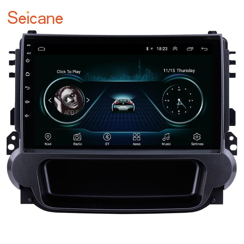 Seicane 2din Android 8,1, unidad principal, WiFi, Radio para coche, estéreo, GPS, pantalla táctil, reproductor Multimedia para Chevy Chevrolet Malibu 2012-2014