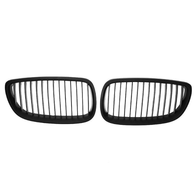 1 par negro frente riñón rejilla para BMW E92 E93 M3 06-10 coche de carreras mate para BMW E92 E93 316i 320d 320i 323i 325d 325i 330i