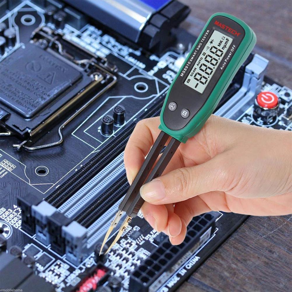 Adeeing Smart Mastech SMD Clip de prueba de identificación automática para capacitancia de resistencia