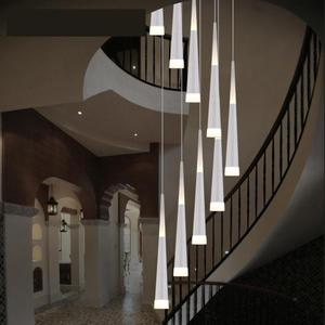 Pendant led Chandelier for stair room stairway 1.5-4M Led suspension luminaria for dining room Hotel fixtures long Stair lamps