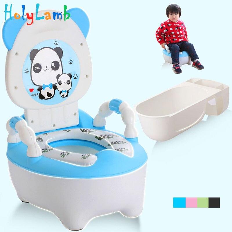 Baby potty toilet bowl training pan seat childrens pot kids bedpan portable urinal comfortable backrest cartoon cute