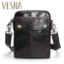 TAUREN rabat nouveau pas cher en cuir véritable Vintage sac casual hommes sac à bandoulière petit sac Messenger sacs de voyage pour téléphone portable