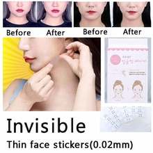 40 sztuk lifting twarzy V naklejki do wyszczuplania twarzy naklejki makijaż twarzy podbródek podnoszenia narzędzia niewidzialna taśma medyczna do oczyszczania porów usuwająca zaskórniki